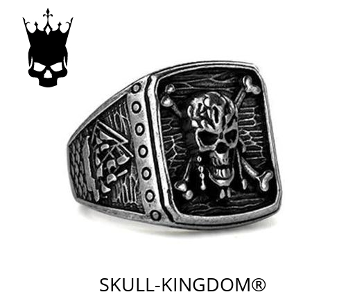 ring head of dead pirate 13 69mm golden