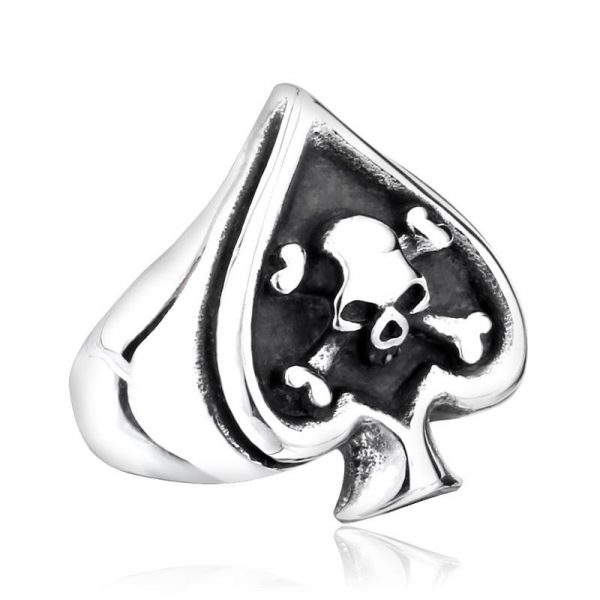 ring head of dead poker skull 15 75 mm buy