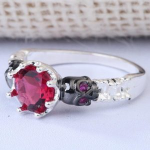 ring head of dead ruby sinister steel 62 silver at sell