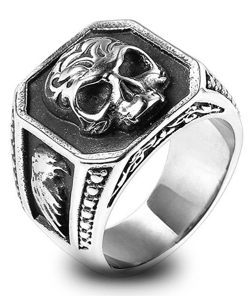 ring head of dead signet ring biker steel 70 to sell