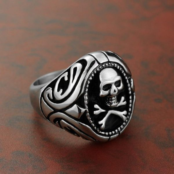 ring head of dead signet ring pirate steel 70 to sell