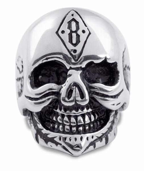 ring head of dead signet ring punk steel 69 ring head of death