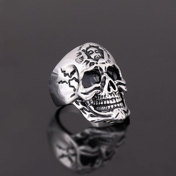 ring head of dead signet ring skull steel 70 buy