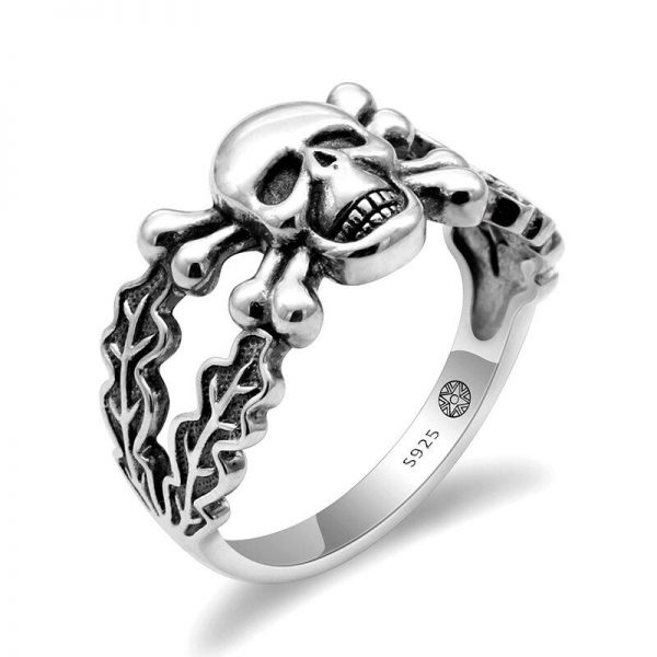 ring head of dead skull and bone money 13 69mm