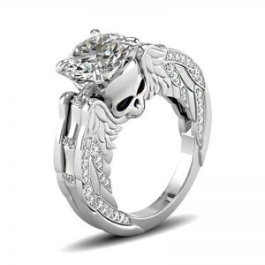 ring head of dead skull angelic 11 64 5mm