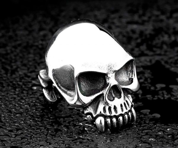 ring head of dead skull biker steel 70