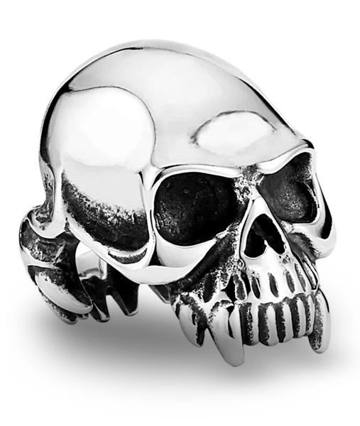 ring head of dead skull biker steel 70 no dear