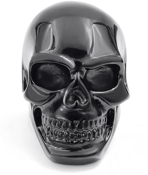ring head of dead skull black steel 75 no dear