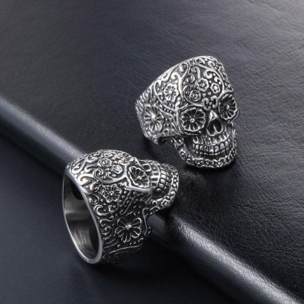 ring head of dead skull flowery steel 67 price