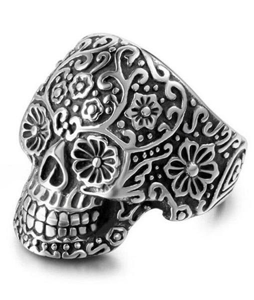 ring head of dead skull flowery steel 67 to sell