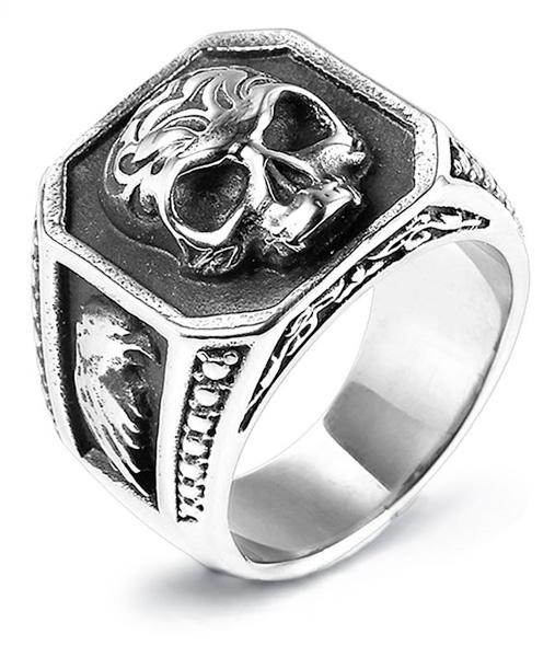 ring head of dead skull gothic steel 72 price