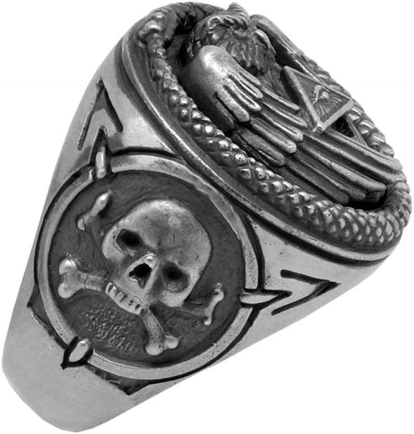 ring head of dead skull illuminati 15 75 mm buy