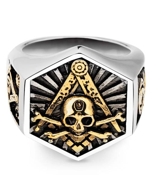 ring head of dead skull illuminati steel 68 not dear