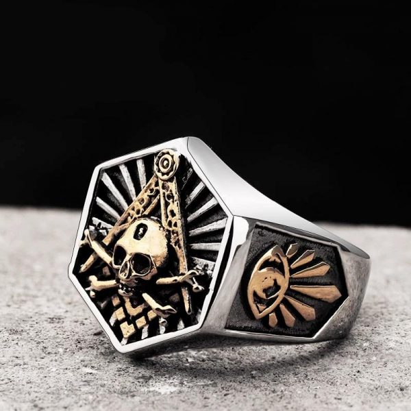 ring head of dead skull illuminati steel 68 price