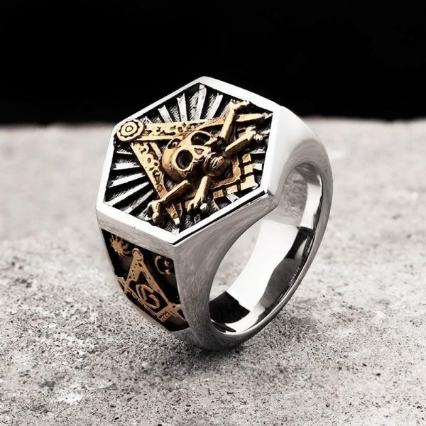 ring head of dead skull illuminati steel 68 skull kingdom