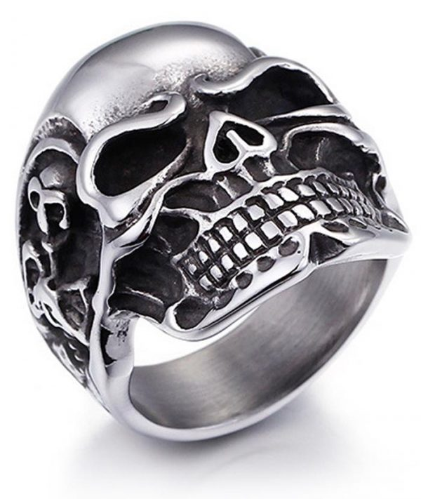 ring head of dead skull of darkness steel 70 price