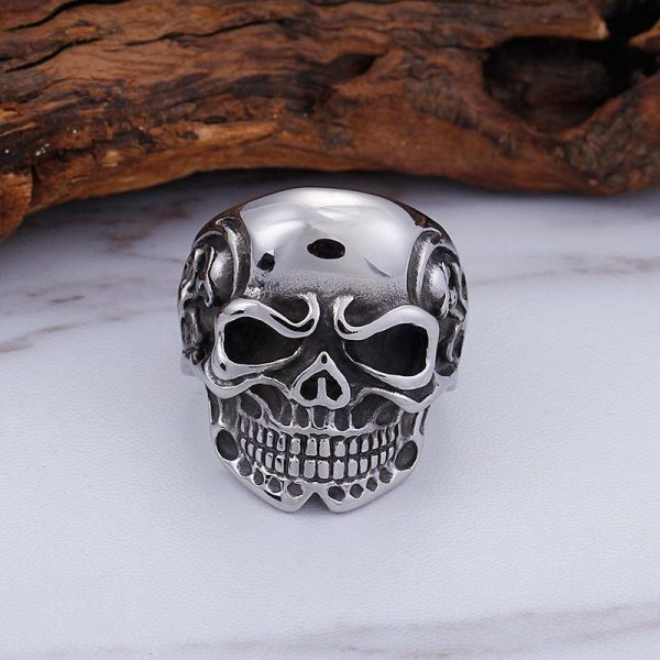 ring head of dead skull of darkness steel 70 ring head of death