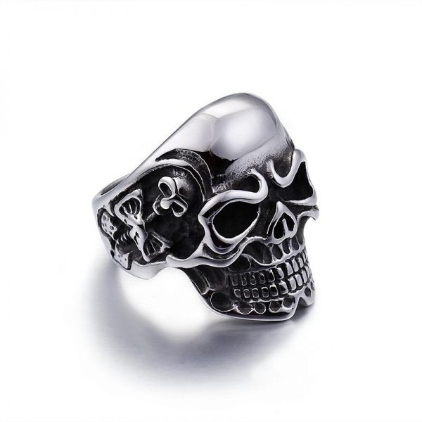 ring head of dead skull of darkness steel 70 skull kingdom