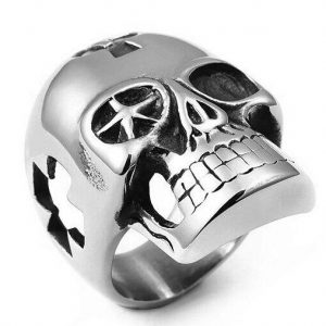 ring head of dead skull of templar steel 67 buy