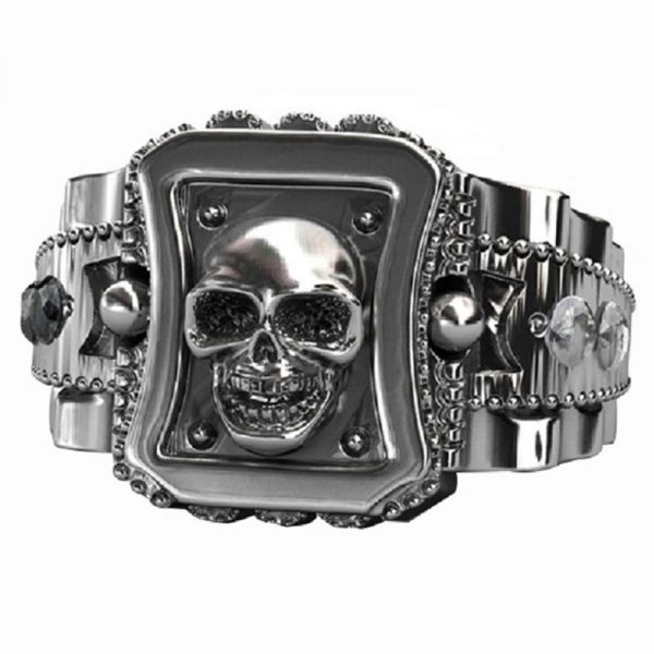 ring head of dead skull stainless steel 65 ring head of death