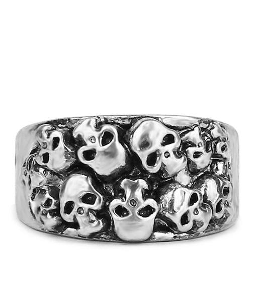 ring head of dead style gothic steel cut unique adjustable price