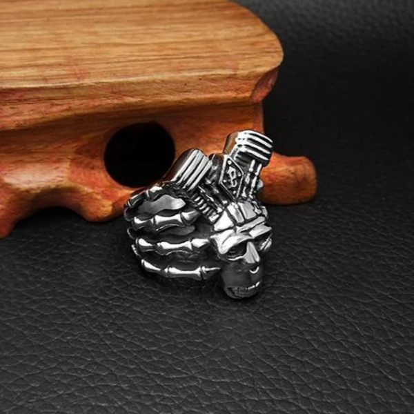 ring head of dead turbo biker steel 68 buy