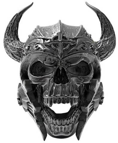 ring head of dead viking skull 15 75 mm black price