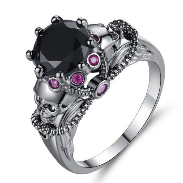 ring head of dead violetta steel 62 black stone at sell