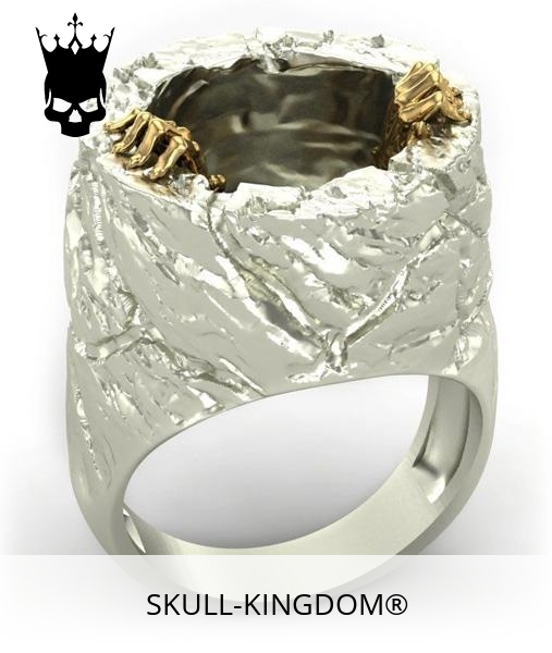 Steel manhole skull ring