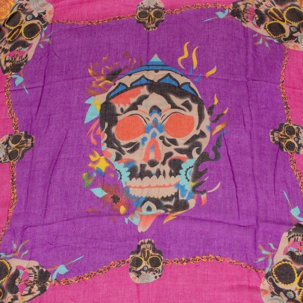 scarf head of dead multicolored at sell