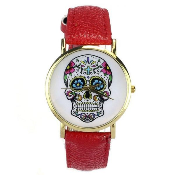 shows head of dead mexican 8 colors yellow watch head of death