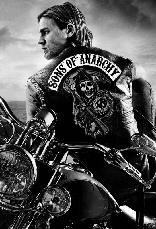 sons of anarchy biker black and white wallpaper