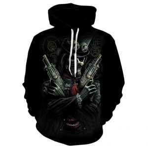 sweat head of dead gun steampunk 4xl sweat head of death
