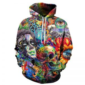 sweat head of dead multicolored 4xl
