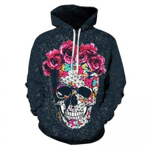 sweat head of dead skull flowery 4xl skull kingdom