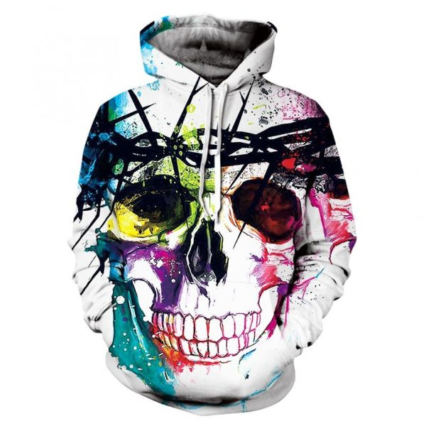 sweat head of dead skull multicolored 4xl at sell