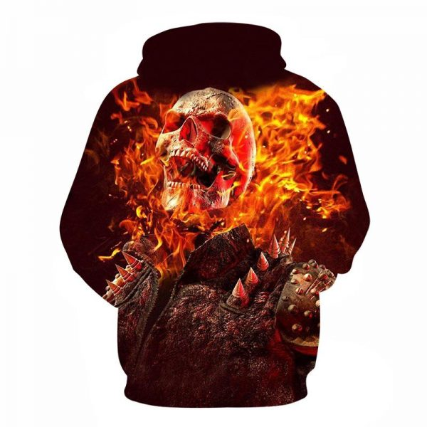 sweatshirt head of dead flame satanic 4xl not dear