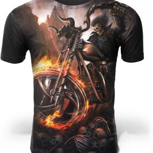 t shirt head of dead biker satanic picture color 16 4xl buy
