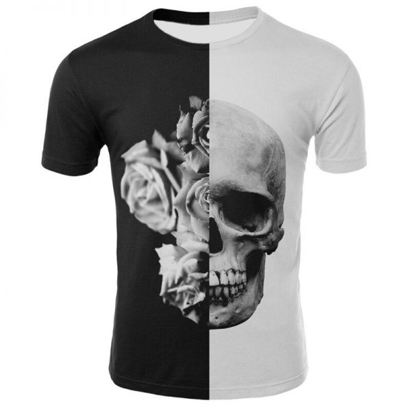 t shirt head of dead black and white 3xl