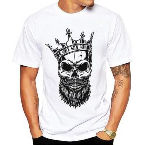 t shirt head of dead crowned xxl skull kingdom