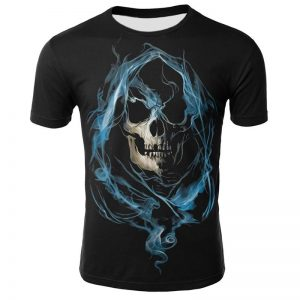 t shirt head of dead flame blue 3xl t shirt head of death