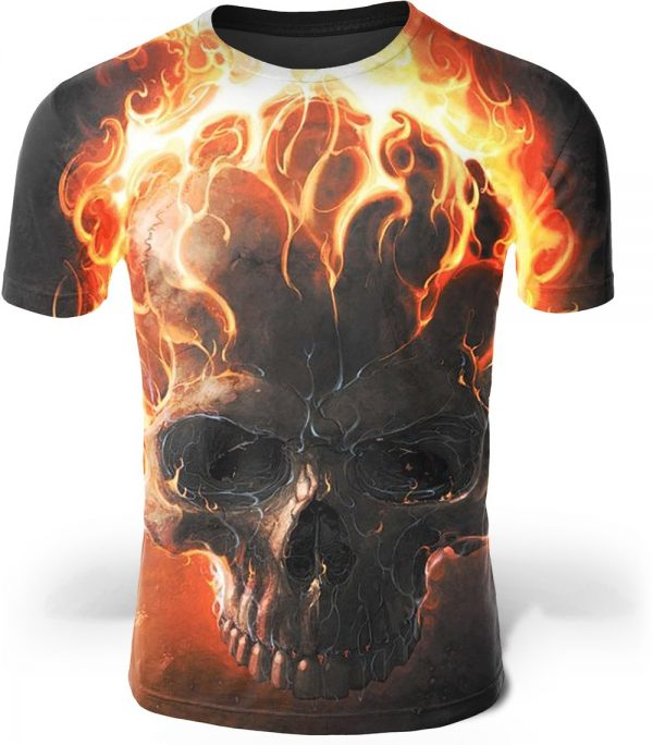 t shirt head of dead flames of hell 6xl not dear