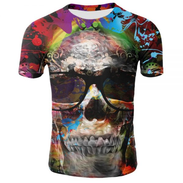 t shirt head of dead glasses of sun 3xl skull kingdom