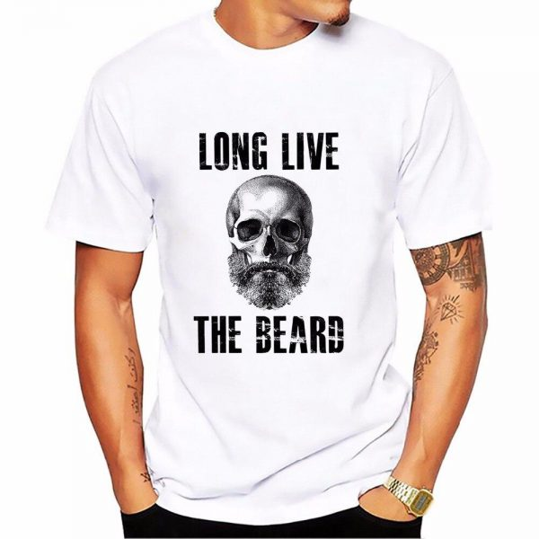 t shirt head of dead long live tea beard 3xl