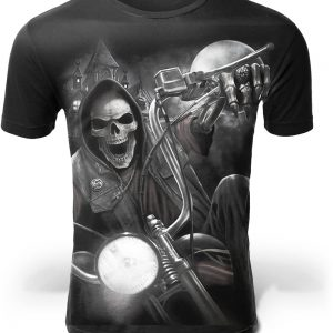 t shirt head of dead motorbike infernal yh01558 5xl skull kingdom