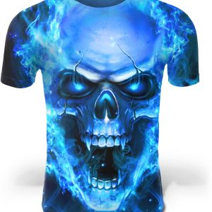 t shirt head of dead pattern flames 4xl buy