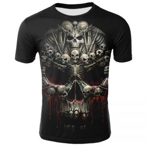 t shirt head of dead skeleton demonic 3xl price