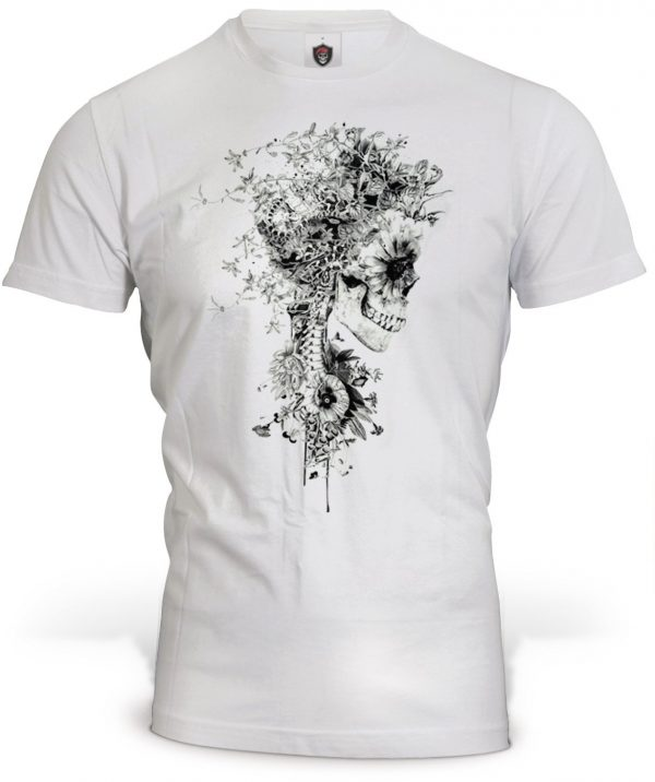 t shirt head of dead skeleton flowery 3xl at sell