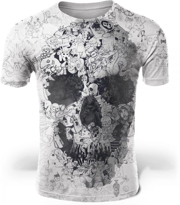 t shirt head of dead skull big cut 4xl at sell