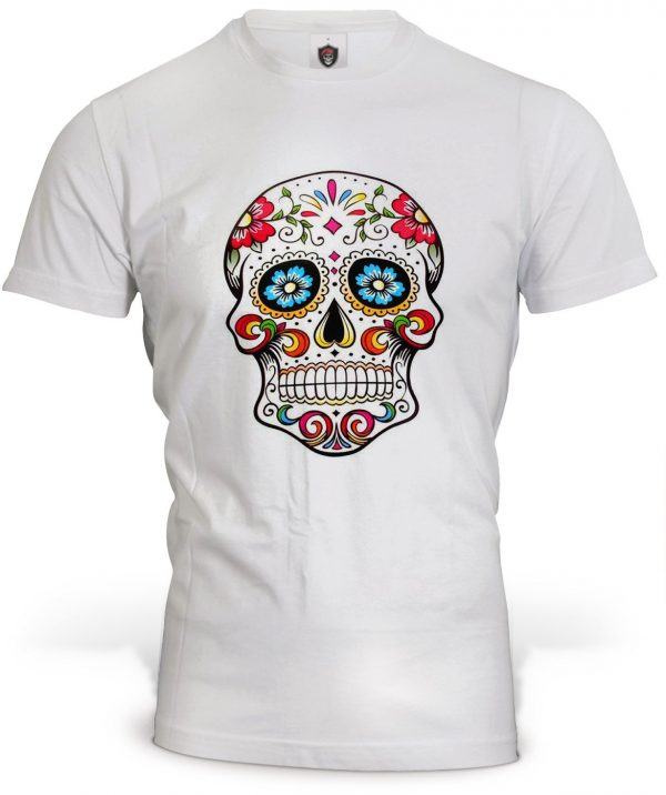 t shirt head of dead skull mexican colored xxl at sell